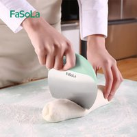 Baking & Pastry Tools Japan Multi Purpose Stainless Steel Scraper Chopper Dough Pizza Cutter Eco-Friendly Kitchen