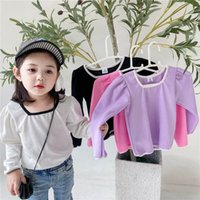 T- shirts Girls Shirts Kids Clothes Child Spring Autumn Cotto...