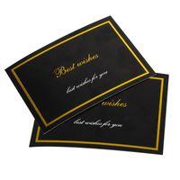 Skräddarsydd Semester Presentpaket Hälsningskort Tryckt Färgglada Paperbräda Tack Kort Personlig Logo Papper Tag