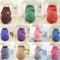 Dog Apparel 10 Colors Winter Warm Clothes Puppy Jacket Coat Soft Shirts Pet Costumes Sweater For Chihuahua Yorkie