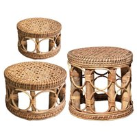 Natural Rattan Plant Stand Durable Decorative Flower Pot Shelf Holder For Indoor Balcony Home Decoration Stool Planters & Pots