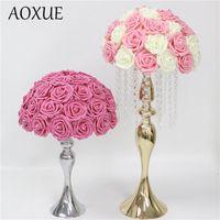 Düğün Dekorasyon Özelleştirme Çiçek Topu Yapay Gül Yarımküre Roma Sütun Ev Partisi Simülasyon Çiçekler Dekoratif Çelenkler