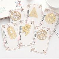 Bookmarks Cut Cherry Blossom Forma Metal Bookmark Creative Lovely Wind Hermosa carpeta de libros