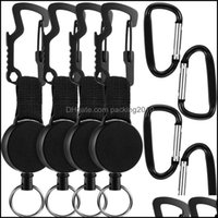 Hooks Storage Housekee Organization Home Gardenhooks & Rails 8 Pcs Retractable Keychain Badge Holder Reel With Mtitool Clip, Key Ring And Se
