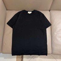 Lüks Işlemeli Erkek T Gömlek Moda Kişiselleştirilmiş Tasarım Tshirt kadın T-shirt Yüksek Kalite Siyah Beyaz 100% Pamuk - A09
