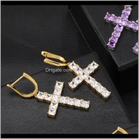 Knot Drop Delivery 2021 Luxury Designer Jewelry Women Earrings Hip Hop Jewlery Men Earings Iced Out Diamond Cross Hoop Orecchini Firmati Des
