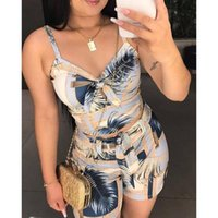 Women's Tracksuits Summer Clothes For Women High Waist Shorts Sets Short Sling Vest Two Piece Set Fashion Printing Female Plus Size