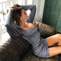 Casual Dresses Woman Puff Sleeve Long Strapless Satin Pleated Folds Mini Sexy Party Vestidos 2021 Autumn Women Solid Elegant Prom