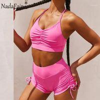 Nadafair Tracksuit Mujeres Set de dos piezas Sólido Sexy Cult Top and Biker Shorts Set Summer Trajes para las mujeres Conjuntos de combinación de 2 piezas1