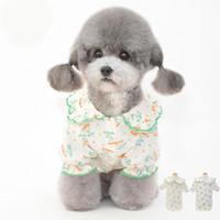 Chemises de chien de coton imprimées pour petits chiens confortable design de designer floral vêtements Teedy Vêtements animaux domestiques tenues