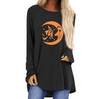 Women's Hoodies & Sweatshirts Fashion Halloween Round Neck Loose Chic Moon Printed Long Sleeve Top Spring Autumn Casual Vacation Women