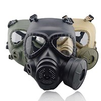 Tactical Head Masks Resin Full Face Fog Fan For CS Wargame Paintball Dummy Gas Mask with Fan For Cosplay Protection