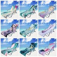 غطاء كرسي الشاطئ ستوكات منشفة بركة صالة كراسي البطانيات المحمولة مع مناشف حزام طبقة مزدوجة بطانية WLL657