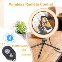 """LED Ring Light 13 """"Com Telefone Telefone do Telefone Bluetooth para transmissão ao vivo Fotografia de maquiagem de mesa dimmível"""