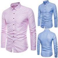 2019 Retro Floral Printed Man Casual Shirts Fashion Classic Men Dress Shirt Breathable Men's Long Sleeve Brand Clothing