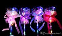 Вечеринка светодиодный свет палку светящиеся волшебные палочки ведьма волшебное волшебное ведьма ясных сердечных формы сердца возглавляют игрушку рождественской игрушкой
