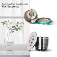 2020 NEW Refillable Upgrade Square Hole Nespresso Stainless Steel Empty Capsules Metal Reusable Coffee Filter Cup Cafe Drippers 210426