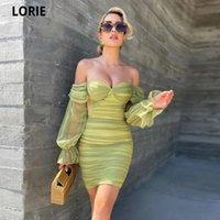 Платья партии Lorie 2021 Trash Green Roundaza Work Prom Fashion Puff Wep The Plife Aweetheart над коленей