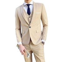 Men's Suits & Blazers Three Piece Set Business Party Men Peaked Lapel Two Button Custom Made Wedding Clothing Sets