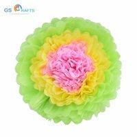 Pom Poms 1pcs Tissue Paper Artificial Flowers Balls Wedding Decoration Crafts Party Home Events Supplies Car Decorative & Wreaths