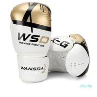جودة الكبار النساء / الرجال قفازات الملاكمة الجلود الملاكمة التايلاندية boxe دي لوفا قفازات ساندا معدات 1