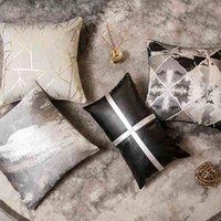 Venta caliente de lujo de lujo de lujo de estilo gris de gris modelo de la sala de muebles de la fábrica de la fábrica de la sala de exposiciones del sofá del cojín almohada