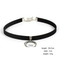 Новый дизайн черный бархатная лента Choker ожерелье готический ручной работы с очарованием луны подвесной готический эмо для женщин воротнички mujer1 954 t2