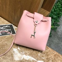 Evening Bags 2021 Fashion Luxury Designer Mini Deer Pendant Bucket Bag High Quality Crossbody Shoulder Ladies Purses And Handbags Cc