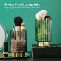 Storage Boxes & Bins Makeup Brush Bucket Dustproof Pen Holder Desktop Eyebrow Pencil Eye Shadow Brushes Box