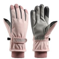 All-Finger Touchscreen Ski Handschuhe Warme Handschuhe Damen Winter Fleece Wasserdichte Snowboard