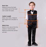 Men's Suits & Blazers Gray Kid' Notch Lapel Two Buttons Wedding Boy Sits Custome Homme Formal Classic Flowers Boys(Jacket+Pants+Bowtie+Vest)