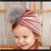 قبعات الخريف الشتاء الرضع الطفل pleuche قبعة الفراء الكرة العمامة مقص فتيات الأطفال القبعات الاطفال كاب بيني 15225 7en8o NSD08