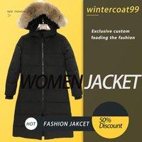 Новая мода знаменитый теплый зимний Parkas верхняя одежда мужчин женщин настоящий волк мех капюшона Канада вниз куртка высочайшее качество пальто Hiver Doudoune 90%