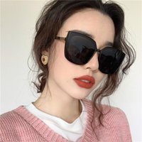 Sunglasses 2021 Oversize Square Women Vintage Brand Big Frame Sun Glasses Woman Black Gradient Female Oculos UV400