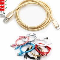 Unbroken Metal Braid Type C  Micro USB phone cables Charger Lead For Samsung S20,S20plus S9 S8 & Android 1M 2M 3M