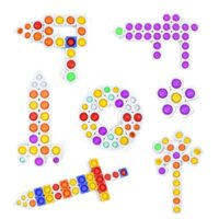 Новинка Игры против RAT FIDGET TOYS TOYS Pioneer Строительные блоки Пузырь Детские Образовательные игрушки для разработки Мозгов Дубиться Мозга Может быть бесконечным