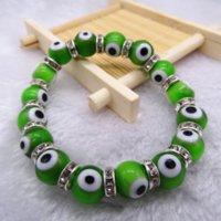 Evil Blue Beaded Eyes Bangles Turkey Acrylic Religious Bead For Woman Jewelry Bracelet