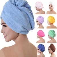 Towel Swimming Rapid Fast Drying Hair Hat Absorbent Cap Turban Wrap Soft Shower