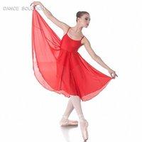 Ballet des filles adultes, lyrique et contemporaine robe de mousseline de mousseline de mousseline de mousseline de ballet 4 couleurs 02D0120 47HI #