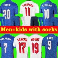 S - 4XL Kane Sancho Soncho Soccer Jersey 2021 2022 стерлингов Rashford Foden Mount Grealish Henderson Национальная футболка по футболу 20 22 мужчин + детский комплект Униформа