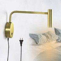 Wandleuchte Zerouno Stecker Lampen LED SCHALTER Swing Arm Schlafzimmer montiertes Zuhause Bettseite Kopfteil Buch Licht Lese Nacht Beleuchtung
