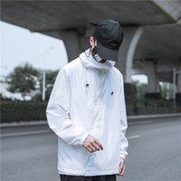2021 Sonbahar Kış erkek Jacke Moda Rahat Gevşek Hoodie Bombacı Ceket