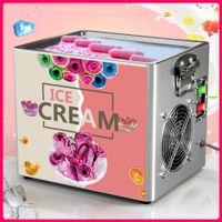 Hot Thai Stir Fry Ice Cream Tools Roll Machine Kitchen Electric Small Fried Yogurt Portable Mini Kit