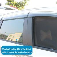 For Mitsubishi Outlander 7 Seats 2021 Magnetic Attarction Sun Visors Window Shade Protection Gauze Mesh Sunshield Trim Car Sunshade