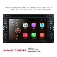 Android 10 Auto Radio Ouad Core 6.2inch 2Din Universal Car DVD Player GPS Stereo Audio Head Unit 4GWIFI DAB DVR OBD2 SWC 2G + 16G