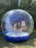New Design Christmas Product Snow Globe Photo Booth Human Inside Halloween Inflatable Snow Globe With Blower Advertising Clear Bubble Dome Popular