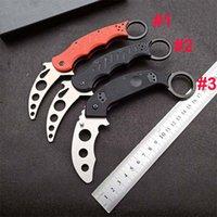 Yeni Varış Uygulama Pençe Bıçak 420c Saten Blade G10 Kolu Eğitmen Karambit EDC Açık Spor Araçları Hediye Bıçaklar