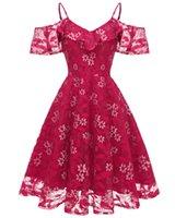 2021 Kırmızı Mezuniyet Elbiseleri Molel Resimler Diz Boyu Dantel Yüksek Kaliteli Spagetti V Neack Shorty Parti Balo Elbise