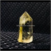 Arts Arts, Crafts Gifts Home & Garden Drop Delivery 2021 ! Yelloe Citrine Quartz Crystal Point Wand Healing Natural Stones And Minerals As Gi