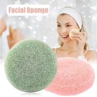Esponjas, aplicadores algodón naturaleza redonda forma konjac esponja face limpieza cosmético soplo reutilizable facial limpiador ma